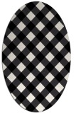 rug #639609 | oval white check rug