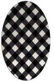 rug #639609 | oval white geometry rug