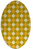 rug #639625 | oval yellow check rug