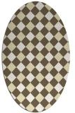 rug #639630 | oval check rug