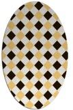 rug #639636 | oval check rug