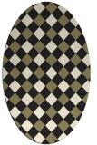 rug #639647 | oval check rug