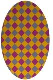 rug #639650 | oval check rug