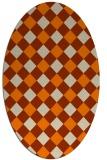 rug #639653 | oval beige check rug