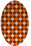 rug #639654 | oval geometry rug
