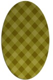 rug #639657 | oval light-green check rug