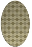 rug #639661 | oval light-green check rug