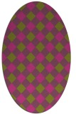 rug #639665 | oval light-green check rug