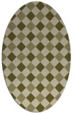 rug #639669 | oval light-green check rug
