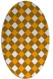 rug #639673 | oval light-orange check rug