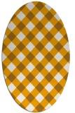rug #639675   oval check rug