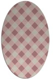 rug #639677   oval pink check rug