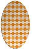 rug #639681 | oval light-orange check rug