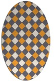 rug #639685 | oval white check rug