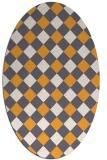 rug #639685 | oval light-orange check rug