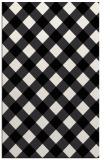 rug #639693 |  black check rug