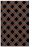 rug #639697 |  black check rug