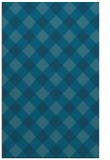 rug #639737 |  blue-green check rug