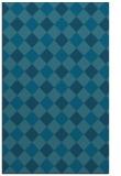 rug #639741 |  blue-green check rug