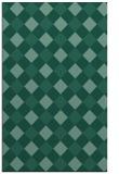 rug #639745    blue-green check rug