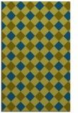 rug #639749 |  blue-green check rug