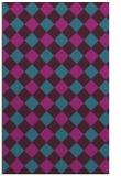 rug #639753 |  blue-green check rug