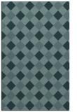 rug #639761 |  blue-green check rug