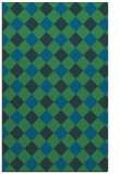 rug #639769 |  blue-green check rug