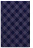 rug #639773 |  blue-violet check rug