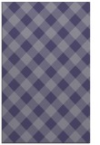 rug #639777 |  blue-violet check rug