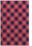 rug #639781    blue-violet check rug