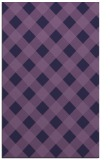 rug #639785 |  purple check rug