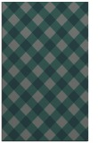 rug #639817 |  blue-green check rug