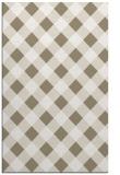rug #639829 |  white check rug