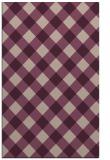 rug #639845 |  pink check rug