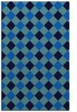 rug #639857 |  blue check rug