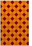 rug #639877 |  orange check rug