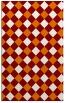 rug #639881 |  orange check rug