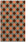 rug #639889 |  orange check rug