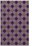 rug #639921 |  mid-brown check rug