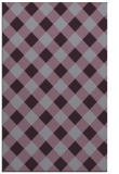 rug #639925 |  purple check rug