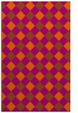 rug #639953 |  red-orange check rug