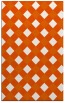 rug #639957 |  red-orange check rug