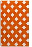rug #639957 |  red-orange check rug