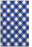 rug #639969 |  blue check rug