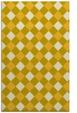 rug #639977 |  yellow check rug