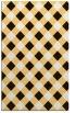 rug #639985 |  brown check rug