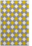 rug #639989 |  yellow check rug