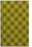rug #640009 |  light-green check rug