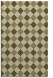 rug #640021 |  light-green check rug